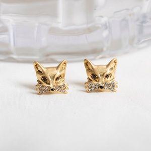 Kate Spade Goldtone So Foxy Studs Earrings